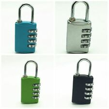 4 Dial Digit Combination Zinc Alloy Password Padlock Suitcase Luggage Bag Lock