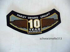 HARLEY DAVIDSON HOG petto-O. MANICHE PATCH 10 jears Member NUOVO!