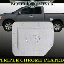 Fits 04-15 NISSAN TITAN Triple ABS Chrome Fuel Gas Door Cover Cap Overlay Trims