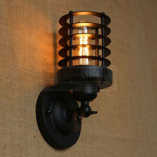 E27 Vintage Industrial Iron Black Shell Wall Light Stair Corridor Lamp Without B