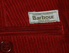 VINTAGE BARBOUR ROYALTY RED CORDS TROUSERS CORDUROY CHINO FRONT FLANT W34