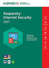 Kaspersky Internet Security 2017 3 PC / Geräte / 1Jahr Vollversion Antivirus