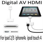Dock to Digital AV HDMI Adaptor Cable Connector for iPad 2 3 iPhone 4 4S IOS 9.1