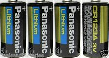 4 Panasonic CR123A Cr123 CR 123 Lithium Batteries 2026
