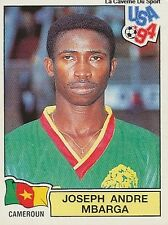 N°104 MBARGA CAMEROUN CAMEROON PANINI WORLD CUP 1994 STICKER VIGNETTE 94