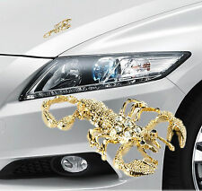 Auto Aufkleber Scorpion gold Car Sticker 3D Optik in Gold Metal Sternzeichen