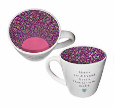Sisters Are Different Flowers Ceramic Inside Out Mug In Gift Box Lovely Gift