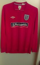2010 world cup umbro england long sleeve training jersey red mens large