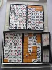 Vintage Mahjong Tile Set 144 Tiles in carrying case w sticks and dice