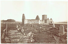 Iona Cathedral & Tombs of Kings, Hebrides, Scotland - 1880s albumen photograph