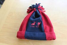 Kids Dublin Cuddly Ponies Red & Navy Bobble Hat- One Size