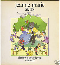 LP FRENCH FOLK JEANNE MARIE SENS CHANSONS POUR DE VRAI VOL.2
