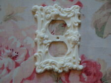 Roses & Flourish Wall Outlet Plate Resin French Country Chic 1967 Vintage