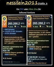 Diablo 3 RoS Ps4/Xbox One  - Fast Crossbow -  über 260 SPS - Softcore/Hardcore