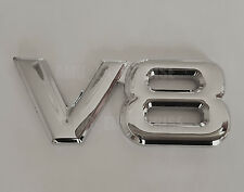 SILVER Chrome 3D Metal V8 Square Badge Emblem for JEEP Grand Cherokee Commander