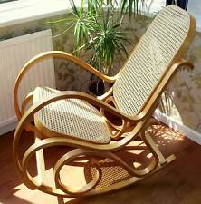 NEW BENTWOOD ROCKING CHAIR BIRCH WOOD RATTAN THONET LIVING BED ROOM CONSERVATORY