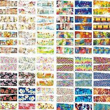 50 Sheets/Lot Wholesale Cat Floral Mixed Water Nail Art Sticker Decals Manicure