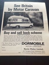 Ephemera 1966 Advert Dormobile See Britain By Motor Caravan Martin Walter  M483