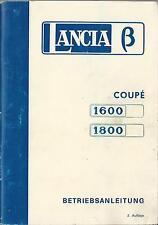 LANCIA  BETA COUPÉ 1600 1800 Betriebsanleitung 1975 Bedienungsanleitung BA