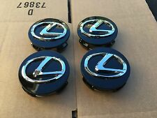 NEW LEXUS SET OF 4 BLACK WHEEL HUB CAPS 62MM CENTER EMBLEM CAP 4PC 42603-30590