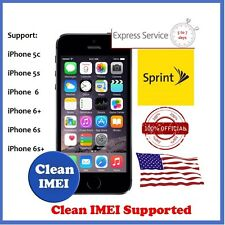 Sprint Official Factory Unlock Slow Service iPhone 7+ 7 6S+ 6S 6+ 6 5S 5C CLEAN