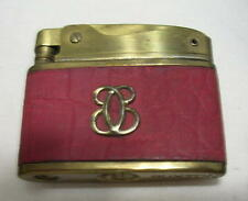 Vintage Lady Buxton Cigarette Lighters  Working Rose color Leather Original Box
