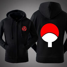 Hot Anime Naruto Sasuke Uchiha Sweatshirt Unisex Hoodie Jacket Coat Black #L02