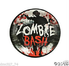 """8 HALLOWEEN Paper Party ZOMBIE BASH Bloody Blood Splattered DINNER PLATES 9"""""""
