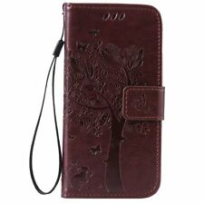 Card Holder Leather Flip Wallet Case Cover Stand Floral For Huawei Ascend Phone