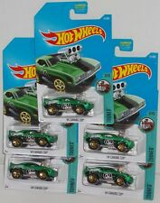 Hot Wheels 2017 HW TOONED '69 CAMARO Z28 GREEN  LOT OF 5  MOMC