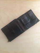 man wallet genuine leather camel active men's Accessories brown 3 fold 10 cards