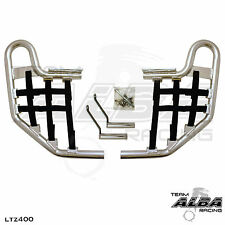 LTZ 400 LTZ400 Suzuki   Nerf Bars  Alba Racing  Silver bar Black nets 206 T1 SB