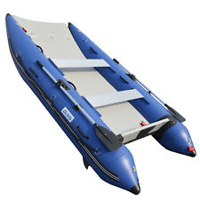 BRIS 11 ft Inflatable Catamaran Inflatable Boat Dinghy Mini Cat Boat Blue