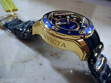 Invicta Mens Scuba Pro Diver Swiss GMT Quartz18K Gold Plated SS Poly Strap Watch