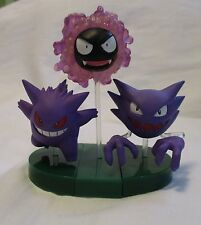 Pokemon Zukan TOMY 1/40 Figure Gastly Haunter Gengar Capsule Toy YUJIN Japan
