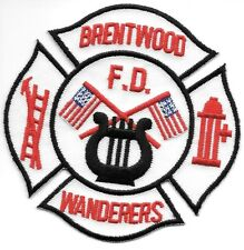 """Brentwood, NY  """"Wanderers"""" (4"""" x 4"""" size) fire patch"""