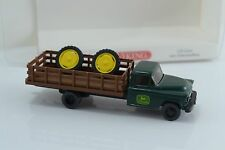 Wiking John Deere US Truck w/ Tractor Wheels Load HO 1:87 Scale