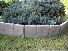 Plastic Garden Fence Panels Boarder Lawn Palisade Edge Patio Fencing GREY BJST