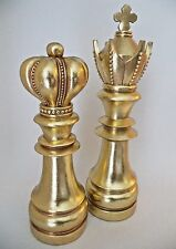 Chess Decorative Pieces King Queen Collectible Library Gold Art Gift Home Decor