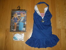 NEW WOMENS SUPER SEXY 3PC MERMAID/SAILOR 2 IN 1 HALLOWEEN COSTUMES SIZE XSMALL
