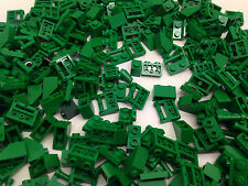 LEGO - 100 GREEN Pieces Bits Cone, Plate, Pins - FREE Brick Seperator