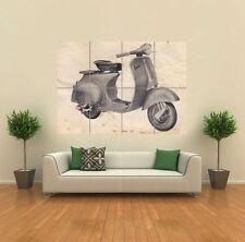 VINTAGE VESPA SCOOTER DRAWING  NEW GIANT POSTER WALL ART PRINT PICTURE G1214
