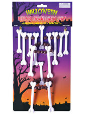 Bone Jewellery Set Cavewoman Witch Doctor Stoneage Necklace Fancy Dress Voodoo