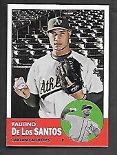 FAUTINO DE LOS SANTOS 2012 TOPPS HERITAGE SP #452  OAKLAND A'S FREE COMBINED S/H
