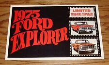 Original 1975 Ford Truck Explorer Sales Brochure 75