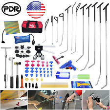 Pro US Stock PDR Tools Set Spring Steel Rods Paintless Dent Hail Repair Removal