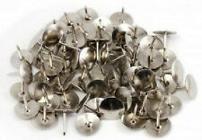 50 Drawing Cork Notice Board Chrome Solid Head Silver Push Thumb Tacks Pins