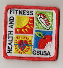 Girl Scout Contemporary Issue Patch~Health and Fitness~Embroidered