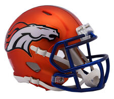 "NEW! 2017 ""Satin Chrome"" Edition DENVER BRONCOS Full Size NFL Football Helmet"