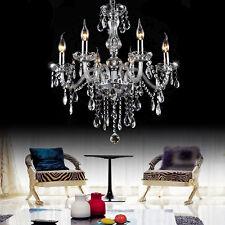 6 Leuchten Kristall Hängeleuchte Kronleuchter Pendelleuchte Deckenleuchte Lampe